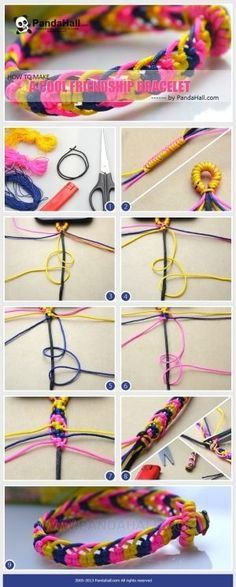 How to make cool bracelets with string-Really easy friendship bracelet patterns by Tailer-Dawn Munroe