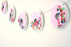 Do-it-yourself doughnut garland makes a sweet party trim