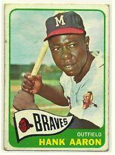 1965 Topps #170 Hank Aaron Baseball Card