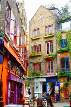 Neal's Yard, London, England. let's go here and dr...
