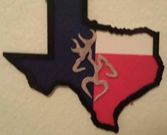"""""""Our love for Texas"""" piece was made with all heart to honor our beautiful state.  Tgis and other beautiful creatiins can be found at our FB pg Crafts and Creations by Nellie"""