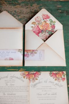 Wedding Invitations from AnistaDesigns.com -- See more on Style Me Pretty:  http://www.StyleMePretty.com/canada-weddings/2013/07/22/boho-chic-inspired-photo-shoot-from-magnolia-studios-willow-rose-events/ Photography: Magnolia Studios
