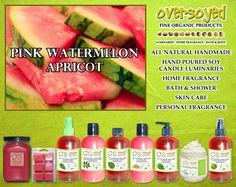 Pink Watermelon Apricot Product Collection - Sweet and delicious pink watermelon with nuances of bright apricot and white florals. #OverSoyed #PinkWatermelonApricot #Watermelon #Apricot #MixedFruits #MixedFruit #Fruity #Fruit #Candles #HomeFragrance #BathandBody #Beauty