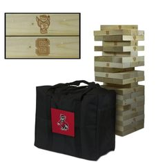 North Carolina State Wolfpack NC State Giant Wooden Tumble Tower Game
