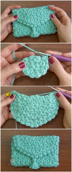 Crochet Purse Jasmine Stitch Free Pattern [Video]