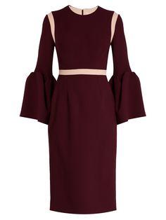 Nair bell-sleeved cady dress | Roksanda | MATCHESFASHION.COM AU