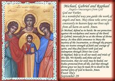 The Feast of Saints Michael, Gabriel, Raphael