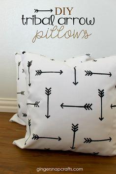 DIY Tribal Arrow Pillows {tutorial}