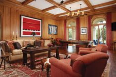 In A Stunning Palm Beach Home, Author James Patterson, His Family And His Muses Reside In Spectacularly Reimagined Style Florida Design, Moving To Florida, James Patterson, North And South America, Entertainment Room, Luxury Lifestyle, Palm Beach, Game Room, Man Cave
