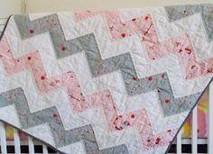 Chevron HST half square triangle quilt // Books. Lists. Life.
