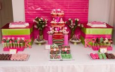 **girl first birthday party ideas   ... Dessert Tables for Girls on Catch My Party - Part 1   Catch My Party