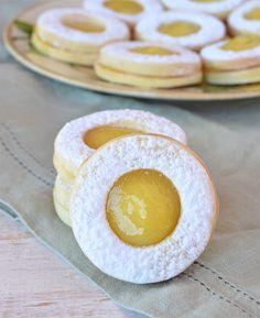 Lunettes de limón Cookie Desserts, Cookie Recipes, Dessert Recipes, Sweet Cookies, Vegan Christmas, Cake Shop, Kitchen Recipes, Food Cakes, Sweet Recipes