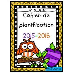 Cahier de planification Hibou 2015-2016 (5 pé.)