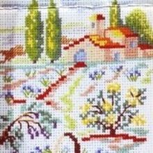 Gallery.ru / Все альбомы пользователя denise10 Cross Stitch Flowers, Cross Stitch Patterns, Cross Stitch Landscape, Christmas, Dots, Blue Prints, Scenery