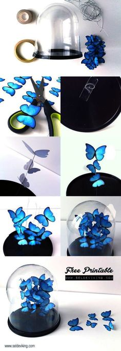 Cool Turquoise Room Decor Ideas - DIY Butterfly Decor - Fun Aqua Decorating Looks and Color for Teen Bedroom Bathroom Accent Walls and Home Decor - Fun Crafts and Wall Art for Your Room