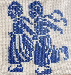 Dutch skaters cross stitch from Dutch Sisters blog
