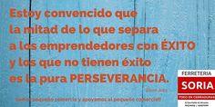 #felizjueves!! Ya sabeís hay que ser perseverante. En FERRETERIA SORIA somos TODO EN CERRADURAS. C/ San Pablo 42
