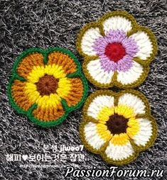 Peace Mom & Duck Flower Muckle Duck Peace Mom is a generous public drawing. I met Duck Fung Flower Semi with a unique flower name . Crochet Puff Flower, Crochet Flower Tutorial, Crochet Flower Patterns, Crochet Motif, Crochet Designs, Crochet Doilies, Crochet Flowers, Crochet Stitches, Knitting Patterns