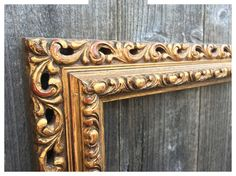 For Sale is a Beautiful Vintage Baroque Frame.  Large Gilded Frame painted Gold with Gold Flake. Made of wood. Great Vintage condition.  This
