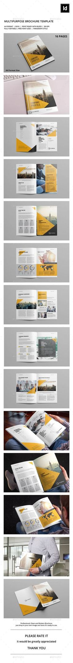 Company Profile Template Company profile, Brochure template and - profile company template