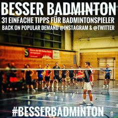 "Gefällt 34 Mal, 1 Kommentare - Coach Diemo Ruhnow (@diemoruhnow) auf Instagram: ""Starting tomorrow in German and English: #bestof ""31 easy training tips for badminton players""…"""