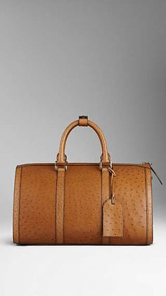 Ostrich Leather Holdall Burberry