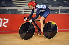 Victoria Pendleton in training on the London Olympic Velodrome #London2012 #cycling