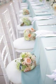 brides of adelaide magazine baby blue wedding outdoor table setting