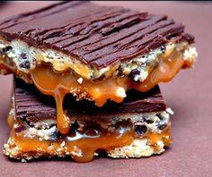 Chocalate Chip Cookie Dough Billionaire Bars