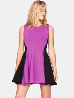Love LabelPanelled Fit and Flare Dress | Very.co.uk
