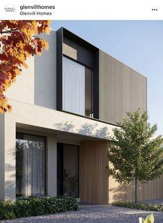 Modern House Facades, Modern Architecture House, Facade Architecture, Concept Architecture, Residential Architecture, Modern Villa Design, Modern Contemporary House, Facade Design, Exterior Design