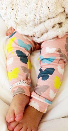 Organic cotton knit leggings baby leggings baby by Smoopiehandmade