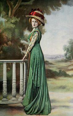 #LivingLifeInFullBloom Les Modes (Paris) August 1909 Robe d'apres-midi par Margaine-Lacroix
