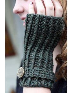 Ribbed Crochet Wristlets