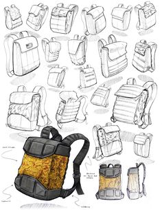 Apollo (Production Version) on Behance Design Reference, Drawing Reference, Volume Art, Backpack Drawing, Sacs Design, Object Drawing, Industrial Design Sketch, Sketches Tutorial, Prop Design