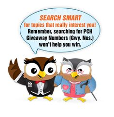 Don't search for giveaway numbers