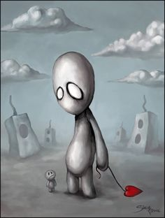 Initially it was a small sketch I painted with acrylic paints almost two years ago. Eventually I got it scanned and just had the file hidden away amongst other insignificant works. A few months ago. Emo Art, Goth Art, Arte Horror, Horror Art, Dark Art Illustrations, Illustration Art, Arte Emo, Tim Burton Art, Arte Robot