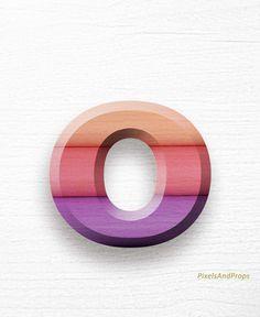 Lowercase letter o | gradient | ombre | colours | colors | #alphabet #typography #initial #monogram #font