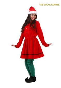 This Adult Polar Express Elf Costume turns you into one of the North Pole residents from the movie.