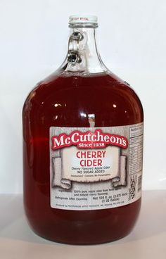 McCutcheon cherry cider - I always treat myself to some when I go to Wylie's for some fresh fruit and vegetables.