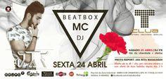 Criação de flyer - Tclub - Beatbox JTF