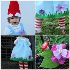 I really want Lylee to be a gnome every year for Halloween, but I want the costume to always be different... This helps!
