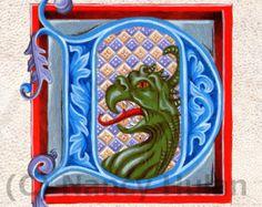 Mittelalterliche beleuchteten Buchstaben B Alphabet