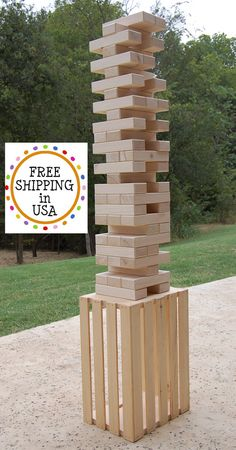 Hey, I found this really awesome Etsy listing at https://www.etsy.com/listing/248218764/54-2x3-giant-jenga-w-stand-carrying-case