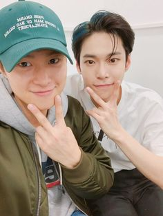 Actor Gong Myung shared a sweet brotherly love for his younger brother, NCT 's Doyoung at recent interviews. During the promotion intervi. Jung Chaeyeon, Jung Woo, Korean Celebrities, Famous Celebrities, Gong Myung Doyoung, Winwin, Asian Actors, Korean Actors, Siblings Goals