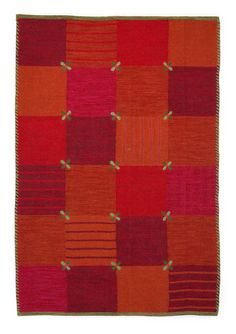"""""""Fink"""" rug in wool/cotton – Theme Norway – GUDRUN SJÖDÉN – Webshop, mail order and boutiques   Colorful clothes and home textiles in natural materials."""