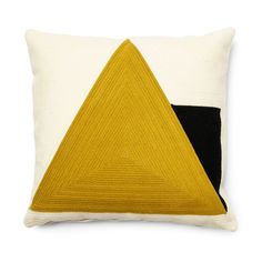 Buy Sinna cushion cover 45 x 45 cm yellow at the best price on Kave Home and enjoy the best designer furniture for your home Cushions To Make, Scatter Cushions, Throw Pillows, Cushion Pads, Cushion Covers, Graphic Patterns, Geometric Designs, Craft Patterns, Decoration