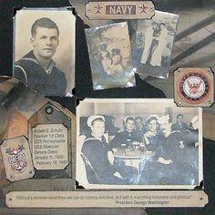 scrapbooking heritage | Heritage Scrapbook Pages: Navy