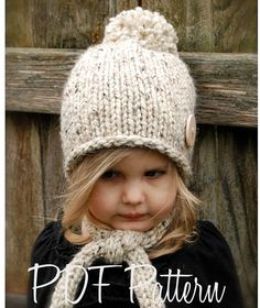 Knitting PATTERN-The Kymmber Slouchy (Toddler, Child and Adult sizes)