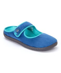 Another great find on #zulily! Blue Vail Slipper #zulilyfinds by Vionic with Orthaheel by podiatrist